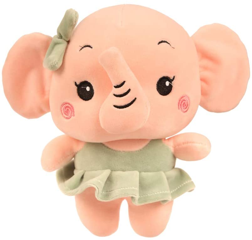 YXiang-Stuffed Toy Cartoon Cute Couple Elephant Plush Toys for Baby Room Deco (Girl)