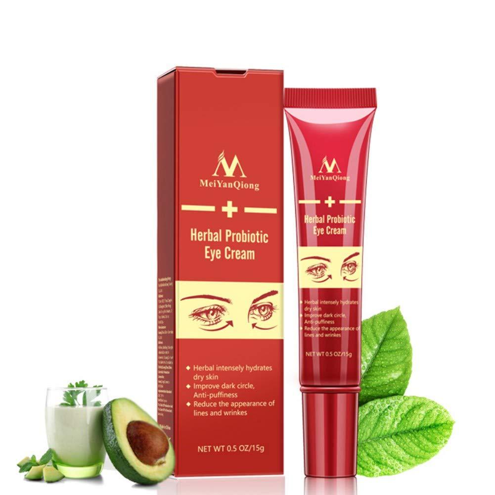 Angmile Natural Rich Probiotics + Hyaluronic Acid Eye Cream Moisturizing Soothing Eye Skin Remove Dark Circle Eye Bag Eye Skin Care Product