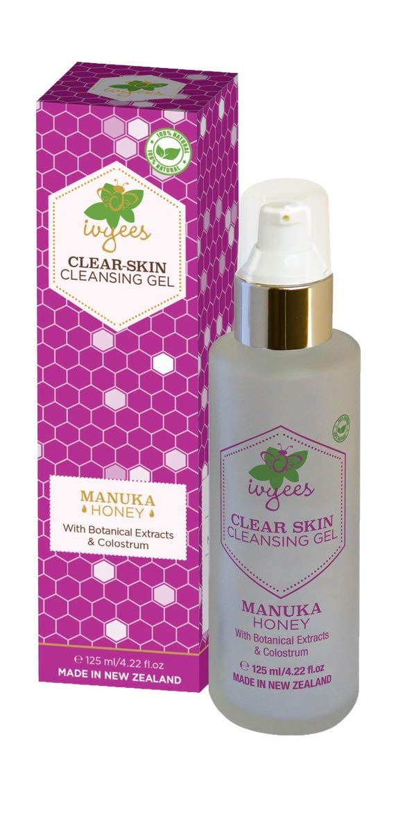 Ivyees Clear Skin Cleansing Gel 4.22 Oz Cleans Without Soap and Tightens Pores, Restores Moisture, Paraben and Mineral Oil Free