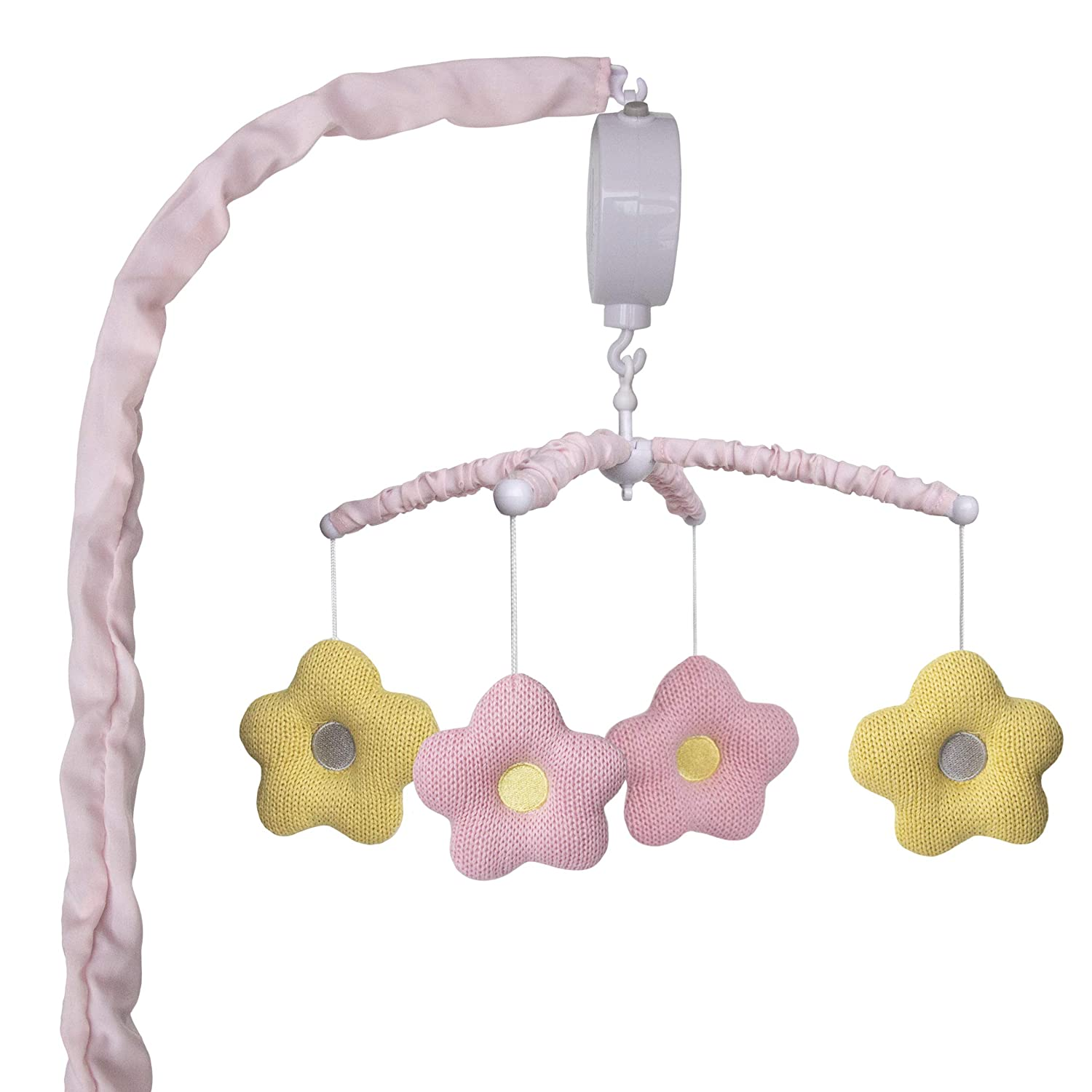 Lolli by Lolli Living Baby Musical Mobile - Primrose   Crib Toy, Knitted Hanging Toys, Nursery Decor, Calming Soother with 12 Lullabies   Baby Essential and Perfect Baby Toy for Boys and Girls