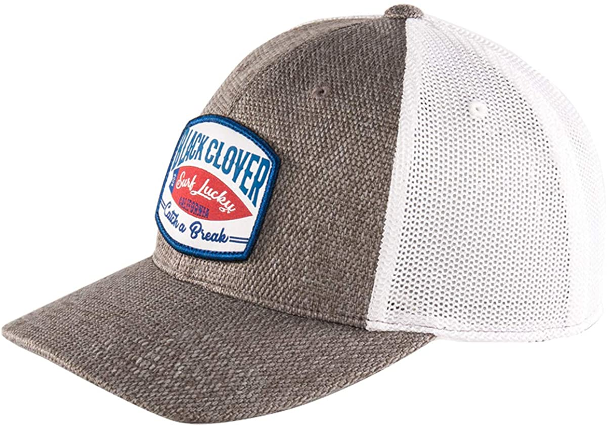 Black Clover New Live Lucky BC Catch A Break Brown Bambo/White Mesh Adjustable Hat/Cap