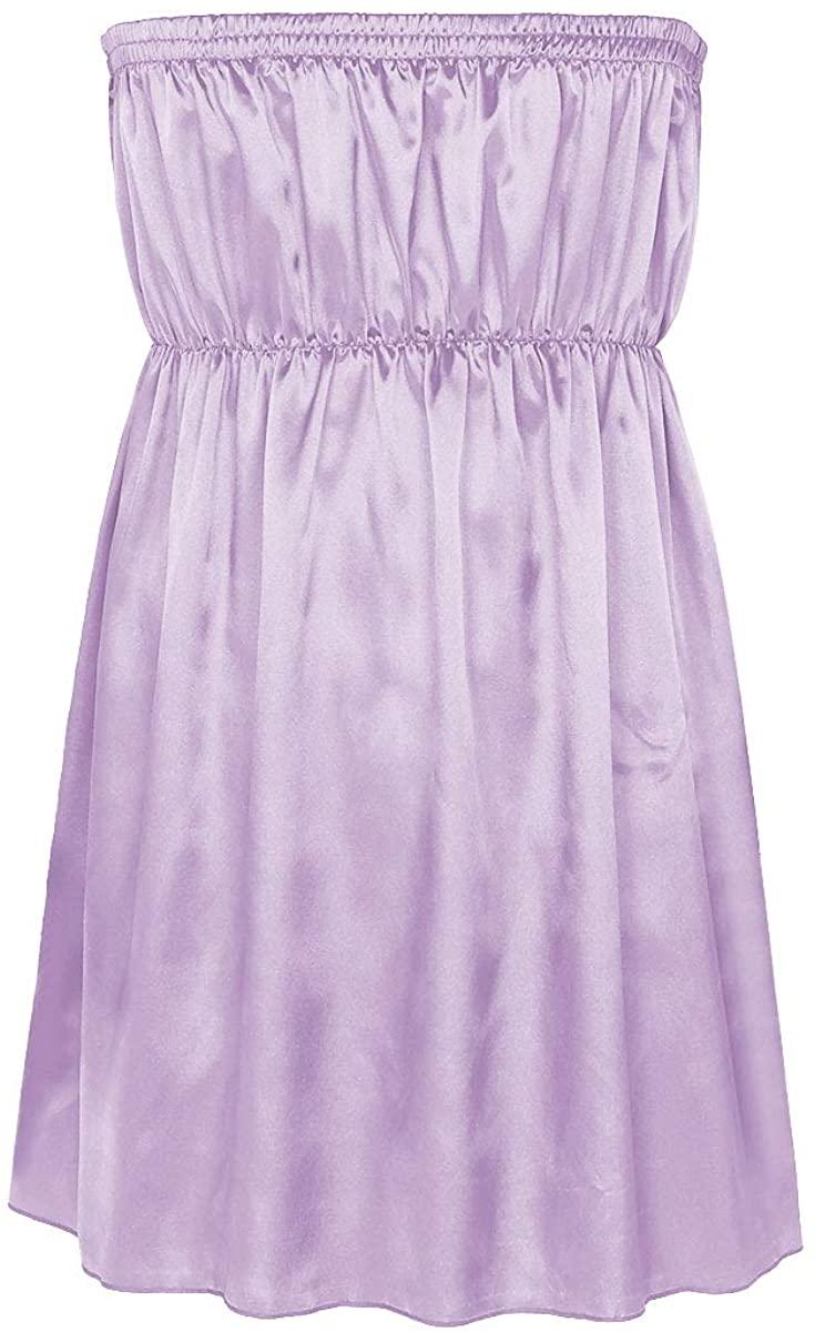 inhzoy Men's Frilly Ruffled Satin Strapless Sissy Maid Dress Crossdress Nightwear Pajamas
