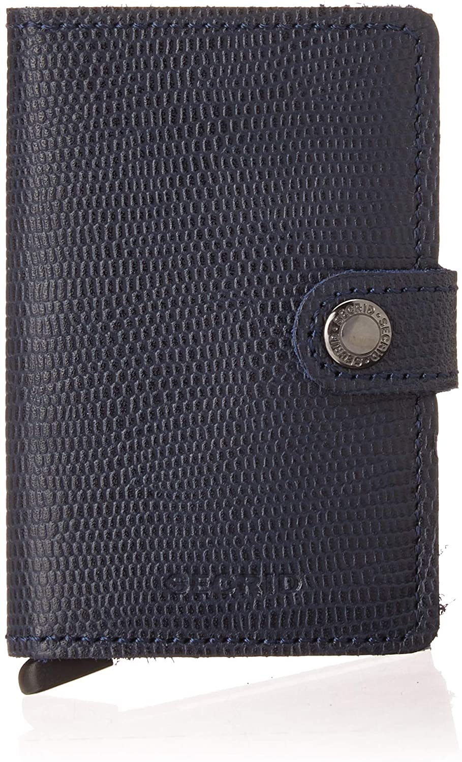 Secrid Miniwallet Rango Blue Titanium Leather Wallet RFID protected