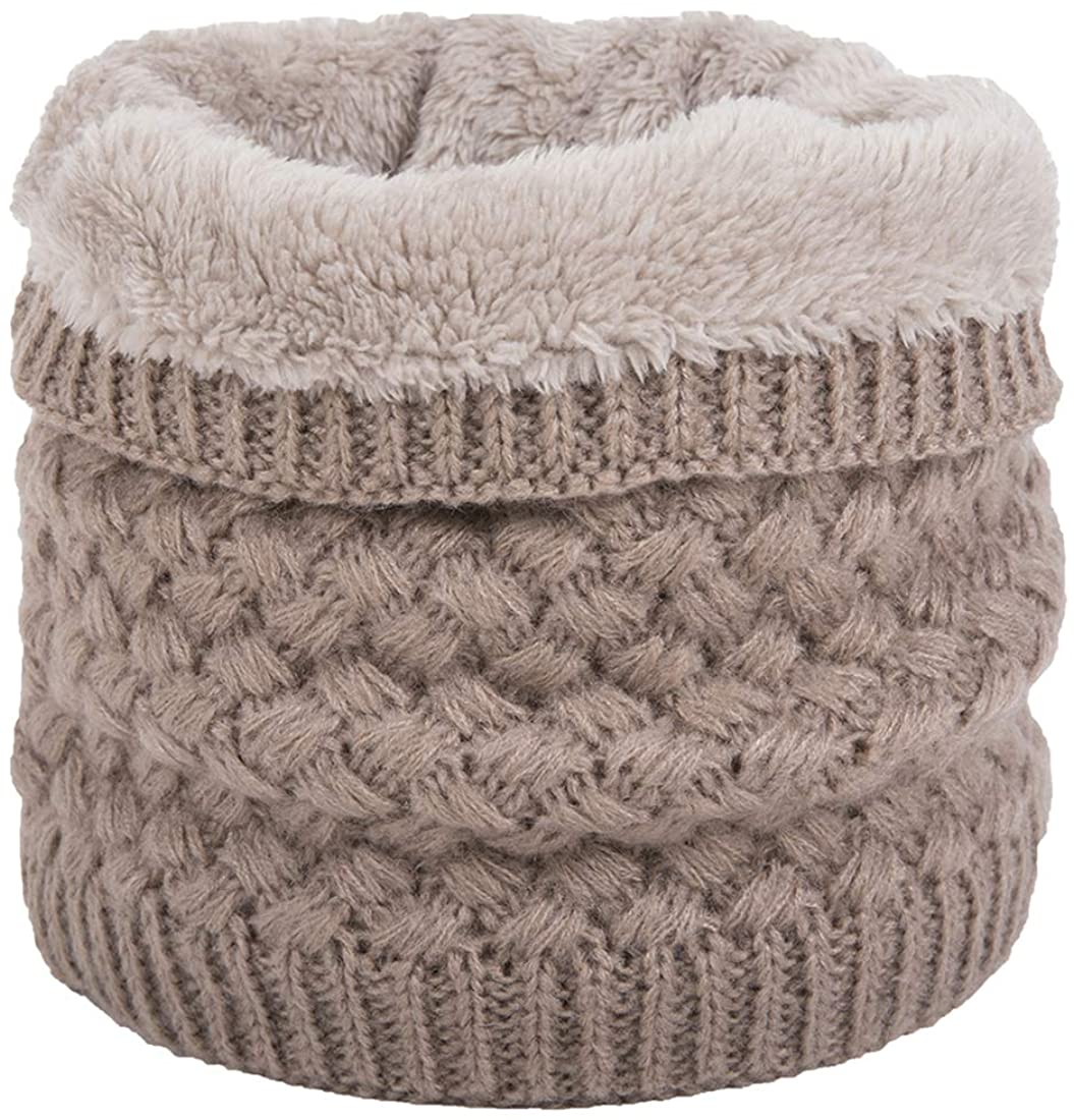 Leories Winter Neck Warmer Fleece Lined Infinity Scarf Thicken Windproof and Dust Skiing Scarf Face Mask