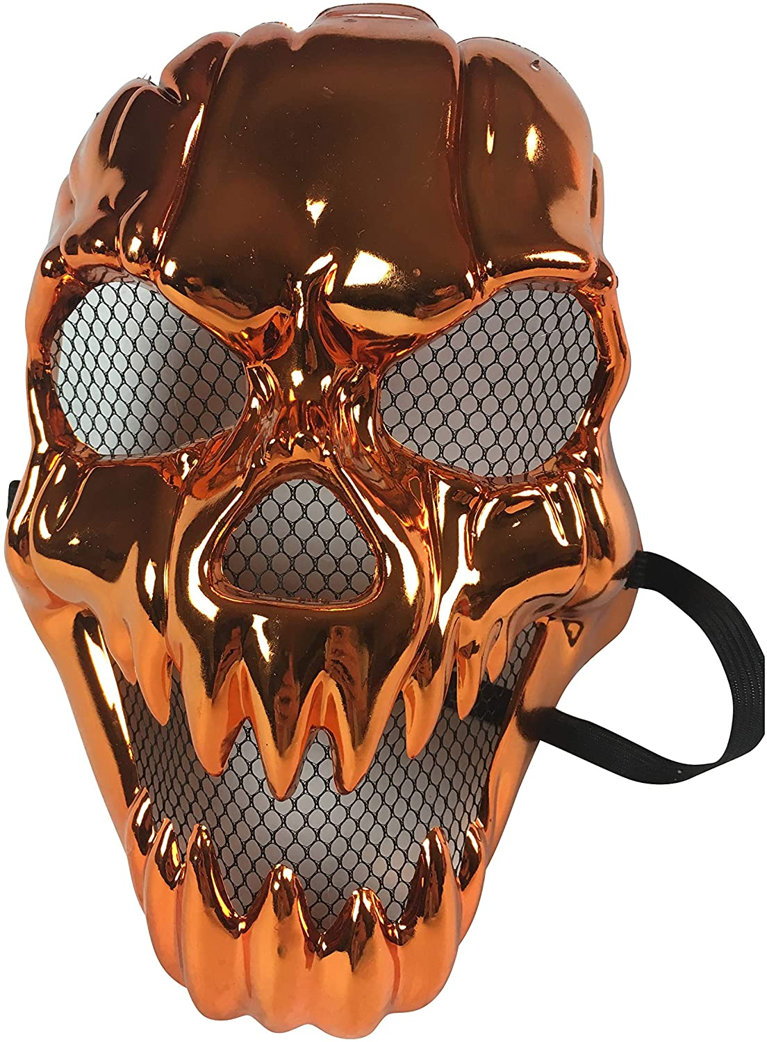 Shiny Copper Metal Looking Halloween Skeleton Skull Mask