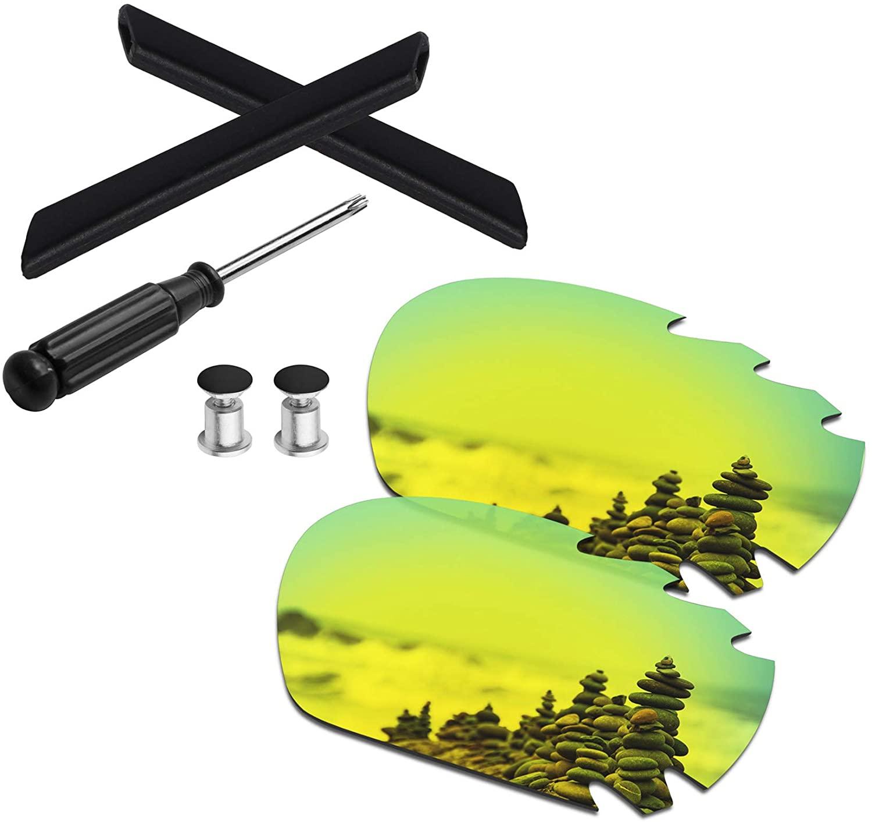 SmartVLT Men's Replacement Lenses&Earsocks&T20&Bolt for Oakley Jawbone/Racing Jacket Vented Sunglass - More Options