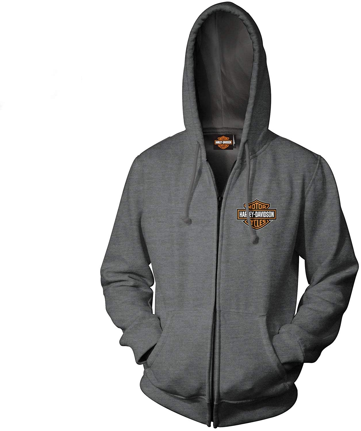 HARLEY-DAVIDSON Military - Men's Custom Zip Hoodie with Military Bases Back Graphics - Overseas Tour   Military Skull Text