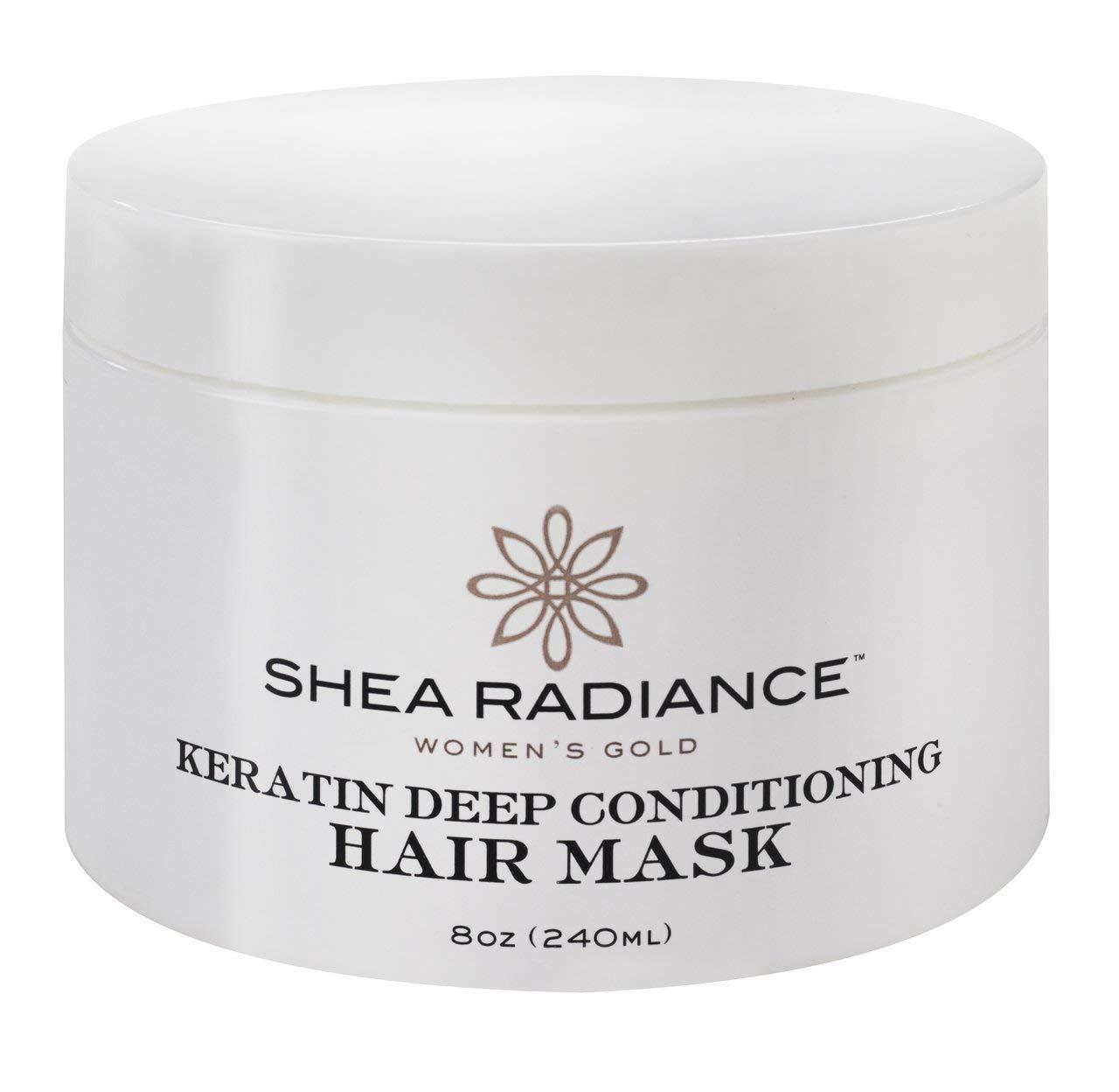 Shea Radiance Keratin Deep Conditioning Hair Mask Repair Treatment For Dry Damaged Hair| 8 oz