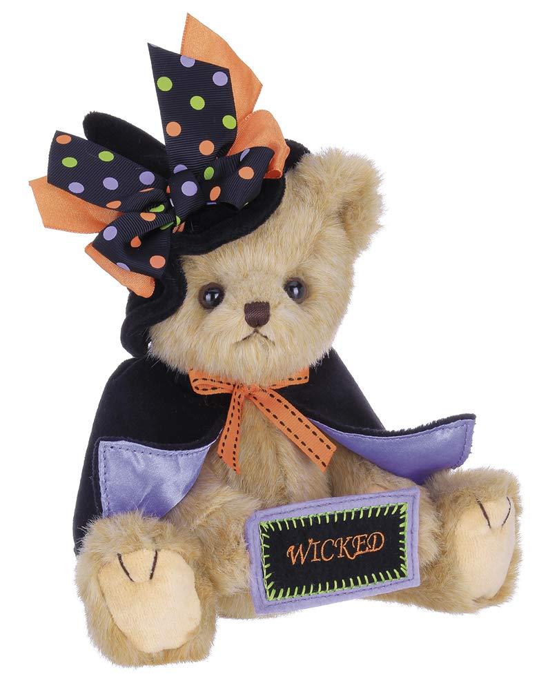 Bearington Tricky Nikki, Plush Stuffed Animal Halloween Witch Teddy Bear, 12 inches