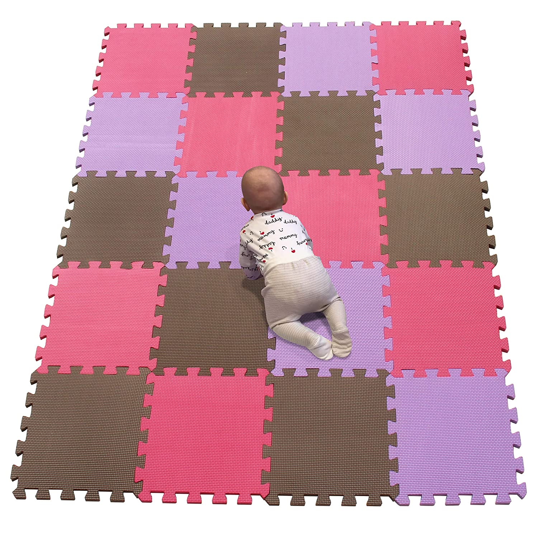 YIMINYUER EVA Foam Activity Play Mat Floor TilesSale Brown Red Purple R06R09R11G301020