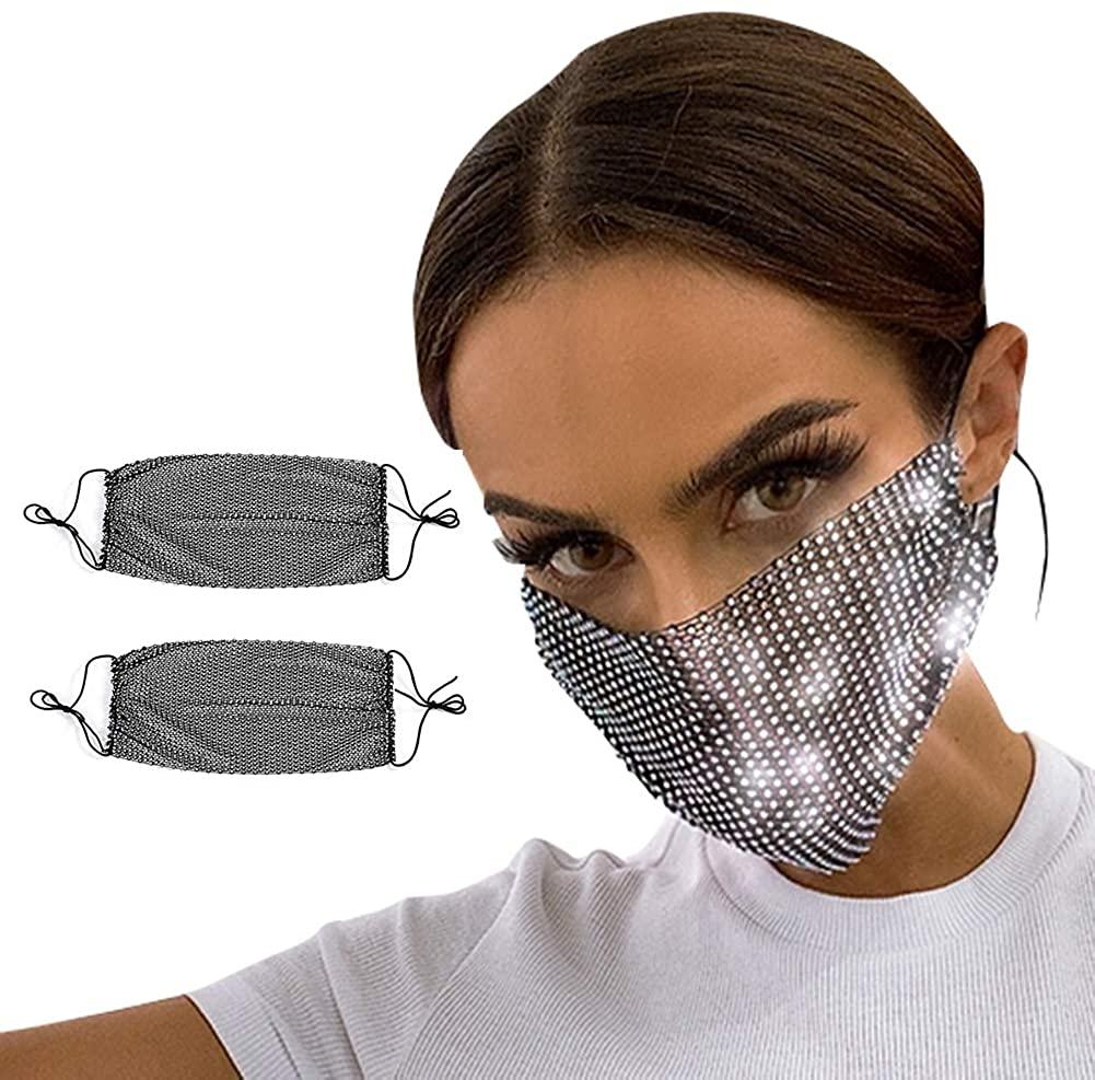 FEOYA Women Belly Dance Face Veil Halloween Genie Costume Accessory Party Clubwear Face Masks