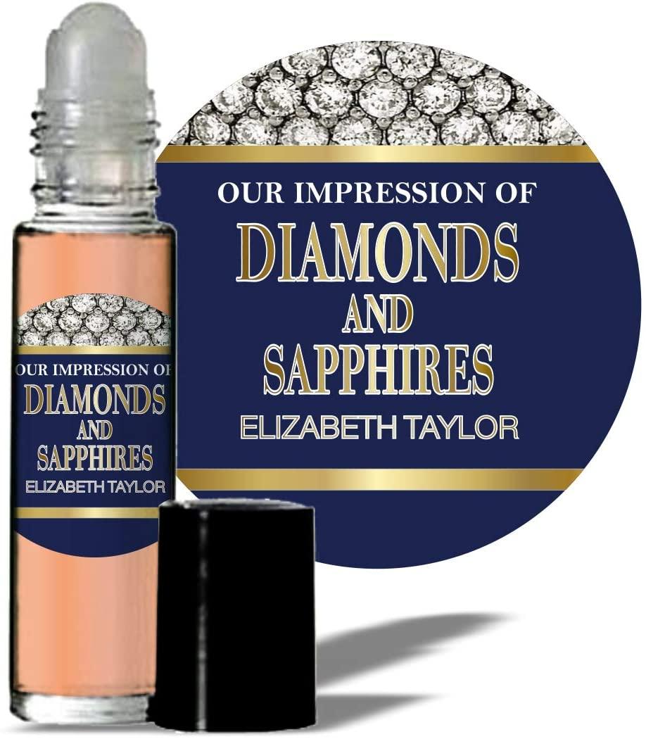 MoBetter Fragrance Oils' Impression of Diamonds & Sapphires for Women Body Oil Fragrance 1/3 oz roll on Glass Bottle