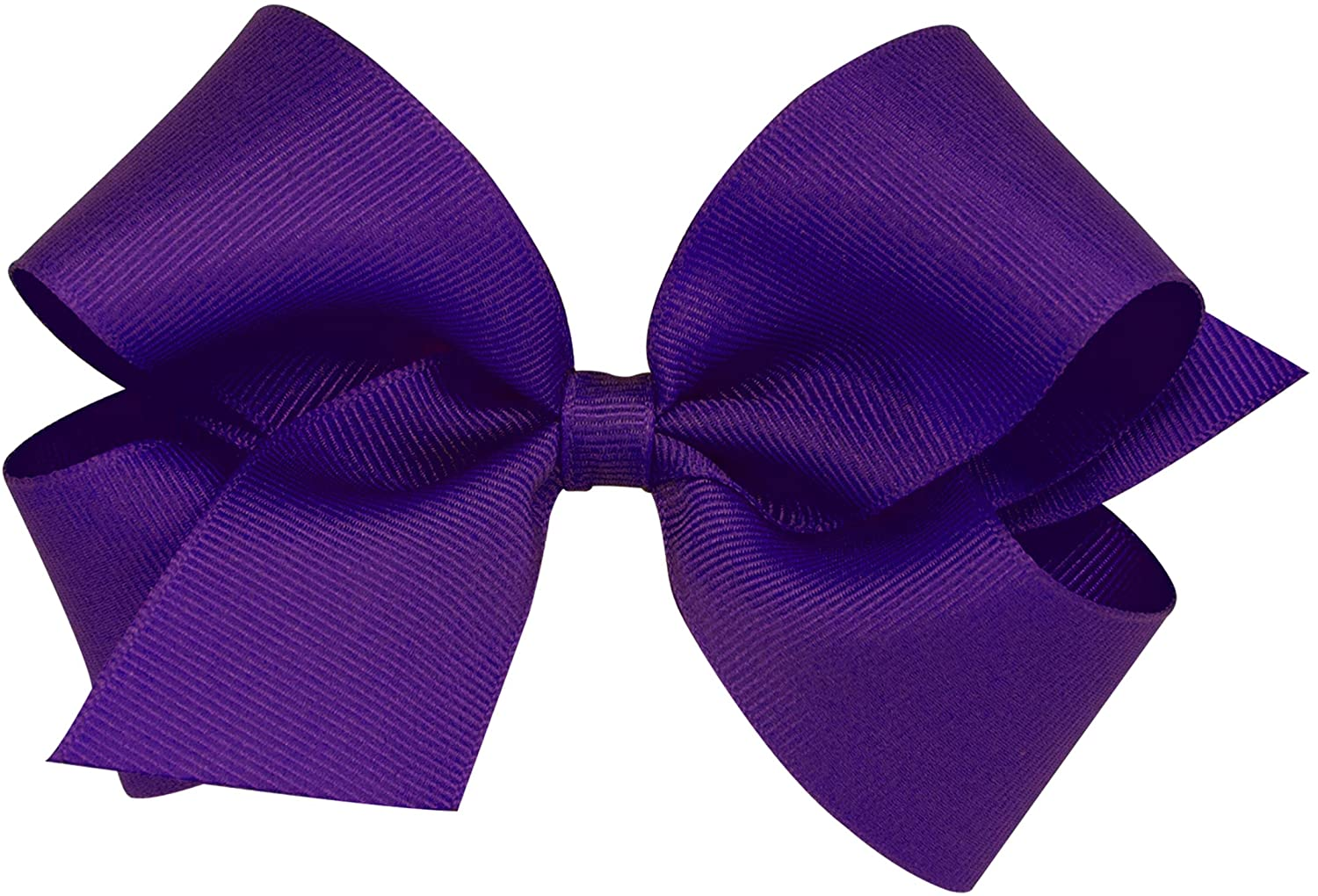 Wee Ones Baby Girls' Medium Grosgrain Hair Bow on a WeeStay Clip w/Plain Wrap