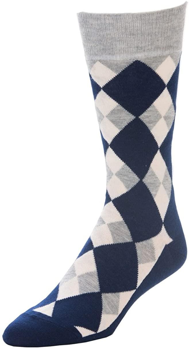 STROLLEGANT Aristocrat Men Crew Casual Cotton Socks 1 Pairs (Blue), Sock Size 10-13