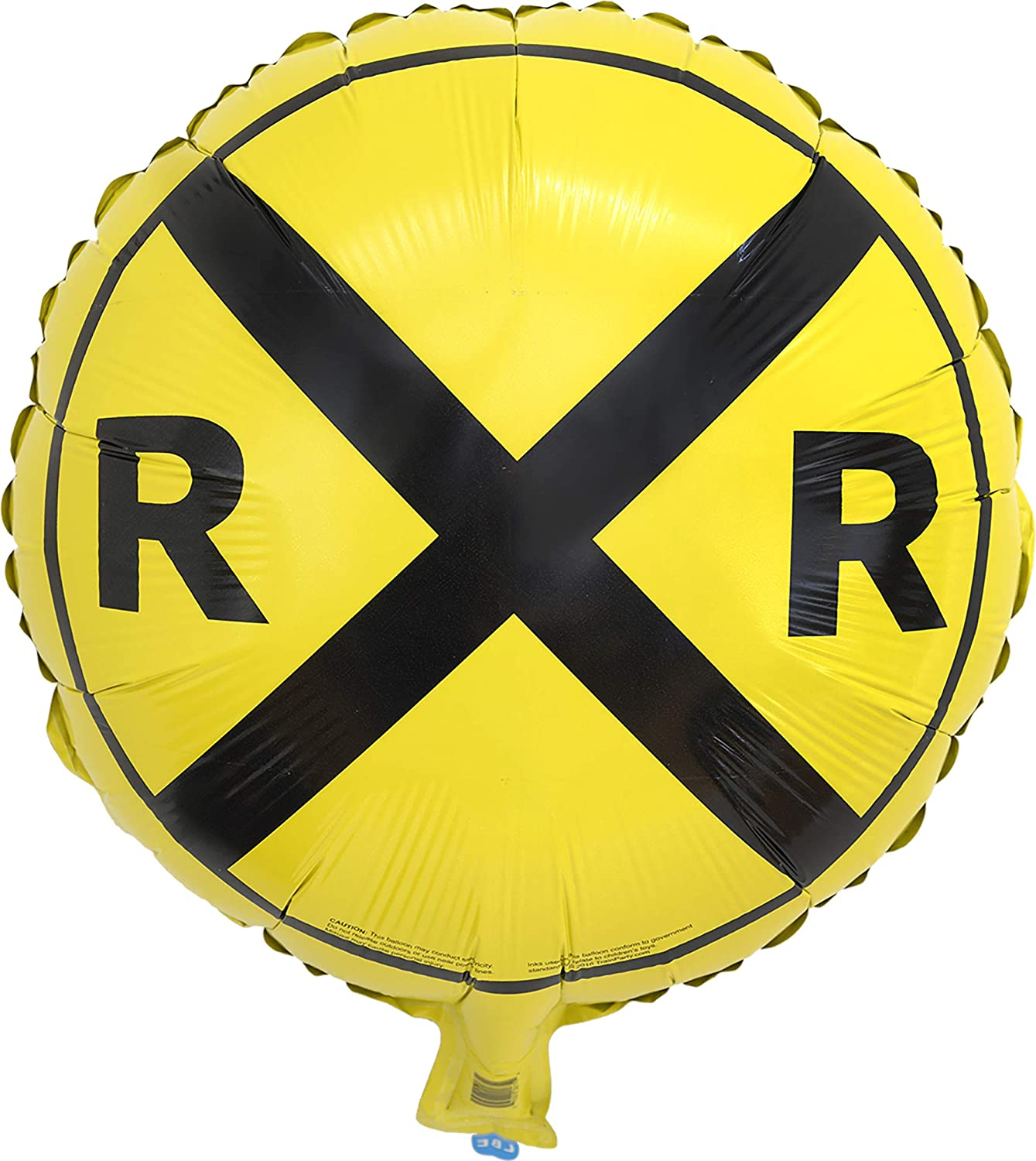 Havercamp Railroad Party Round Mylar Balloon | 1 Count | Great for Train Themed Events, Kid's Birthday Party, Train Collectors' Gathering, Retirement Party, Father's Day, Graduation Party