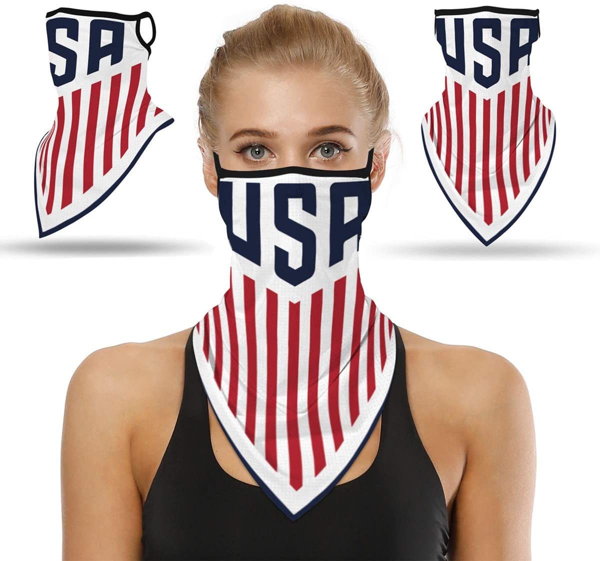 Artuxer Bandanas for Face Scarf Mask Ear Loops Stylish Face Rave Men Women Neck Gaiters for Dust Wind Motorcycle Mask