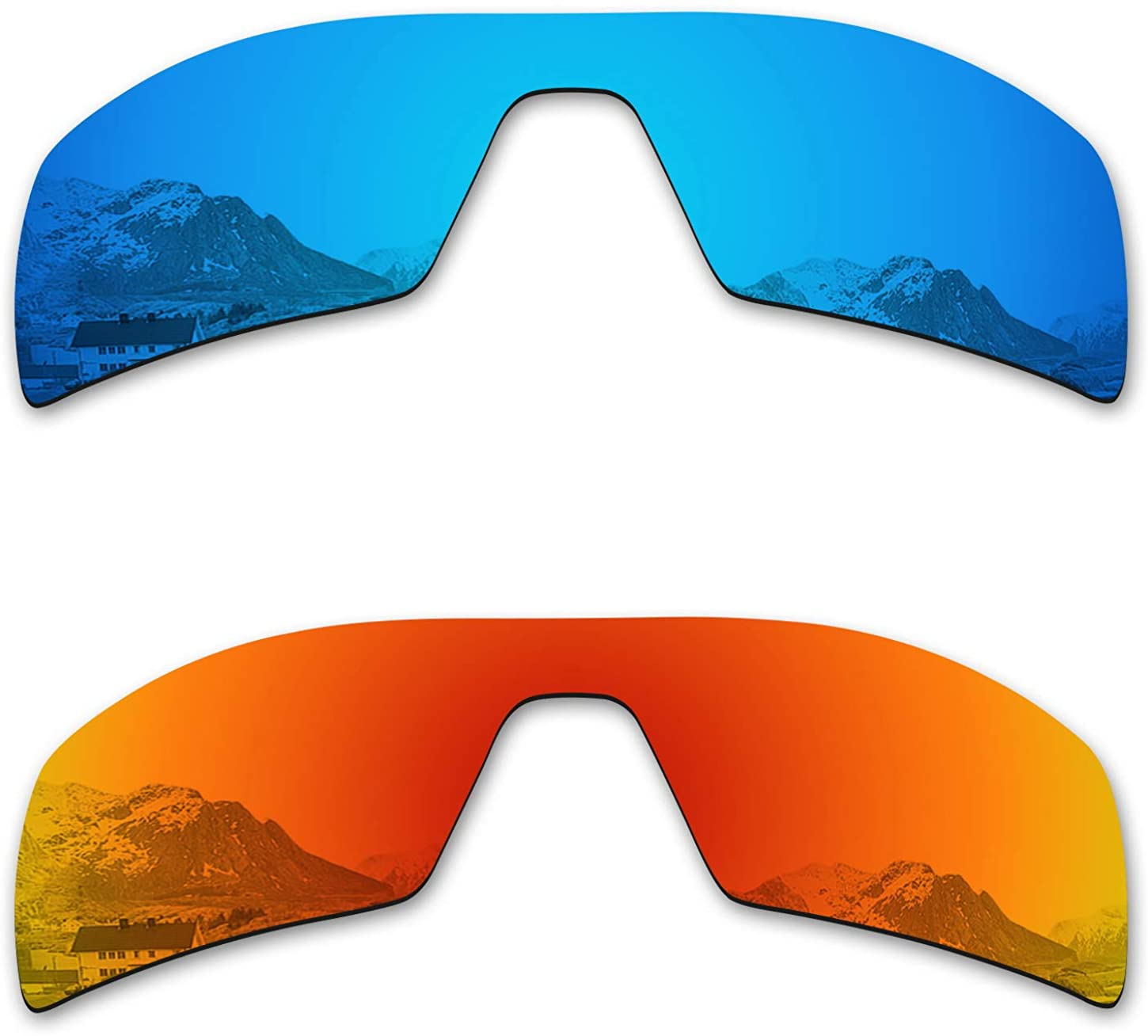 Puzzley Mirror Polarized Replacement Lenses for Oakley Oil Rig Sunglasses - Rich Options
