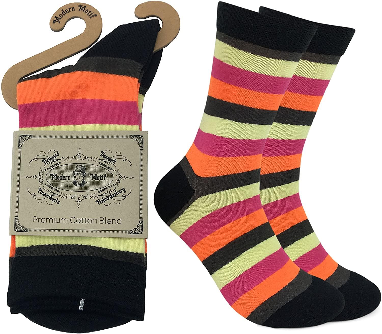 Men's Dress Socks - Hundreds of Designs - Striped, Dots, Multicolors, Patterns