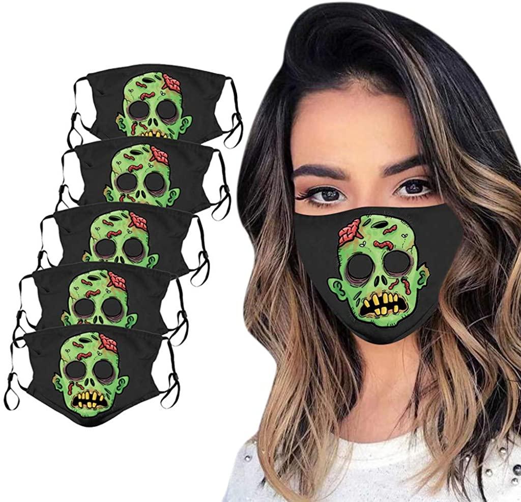 Women Men Halloween Reusable Face_Mask Windproof Bandana Outdoors Cycling Cover