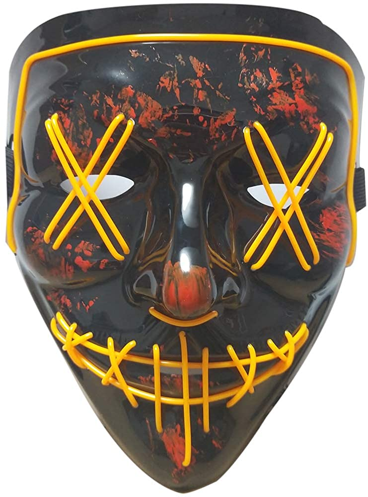 Halloween Mask LED Light up Mask Scary mask for Festival Cosplay Halloween Costume Masquerade Parties,Carnival