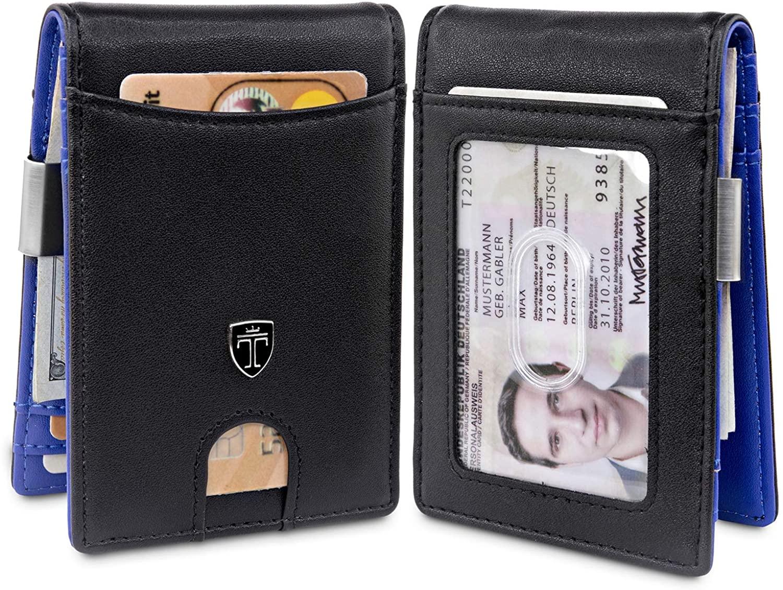 TRAVANDO Money Clip Wallet ATLANTA Mens Front Pocket Slim RFID Blocking - Credit Card Holder - Mini Bifold