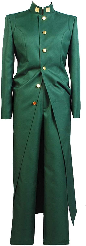 Xiao Maomi Noriaki Kakyoin Cosplay JoJo's Bizarre Costume Long Coat Pant Full Set for Men's Halloween Clothes
