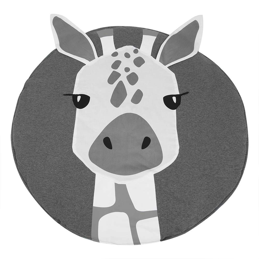 FAMKIT Children Baby Crawling Blanket Giraffe Pattern Cotton Baby Toddler Play Mat Cushion Room Decor