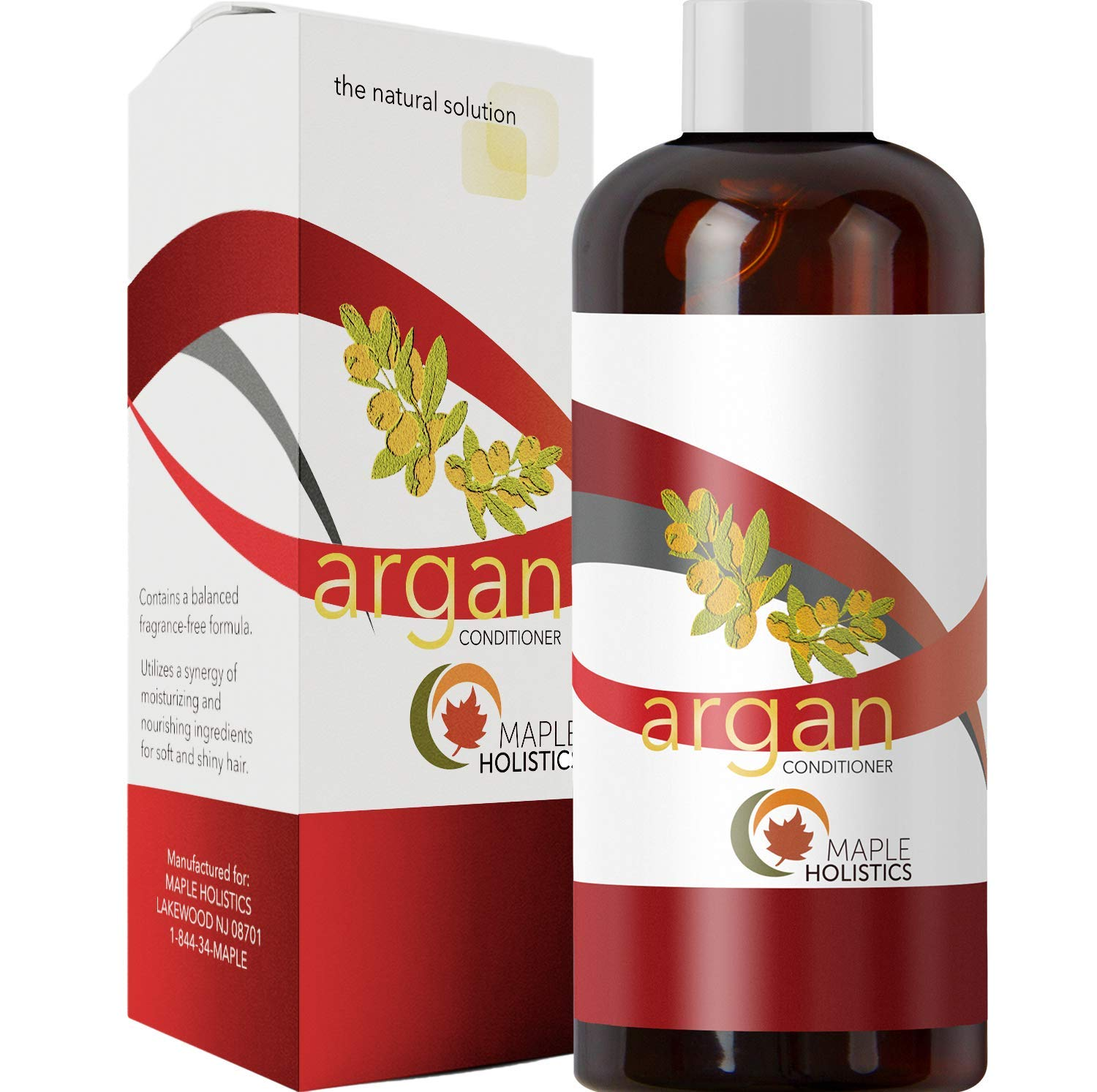 Argan Oil Deep Conditioner for Damaged Hair Pure Shea Butter Jojoba Oil Pomegranate for Women Men Kids Natural Sulfate Free Dry Hair Moisturizer Anti Breakage Thickening Family Size -16 oz