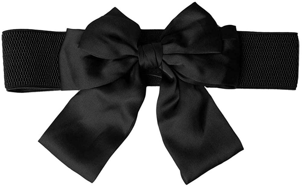 Nanxson Womens Bowknot Waist Belt Elastic Wide Waistband Stretchy Cinch Belt PDW0086