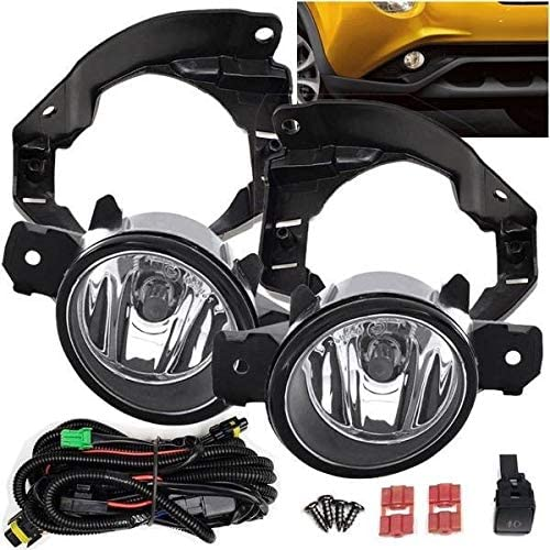 Fits 2014 2015 2016 2017 Nissan Juke Fog Light Set Kit w/Bracket/Wiring/Switch/Bulbs (Not Nismo Model)