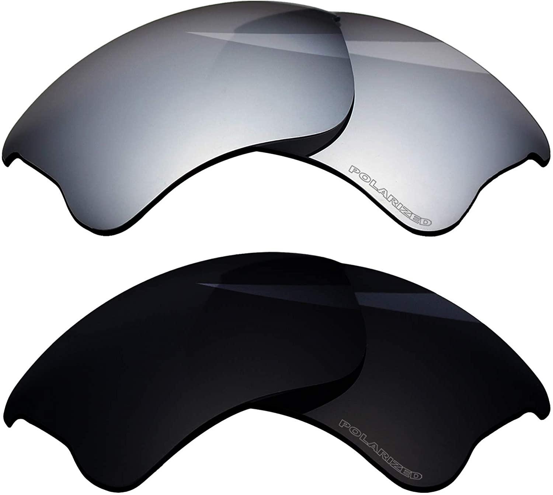 BlazerBuck Polarized Replacement Lenses for Oakley Flak Jacket XLJ - 2 Pairs