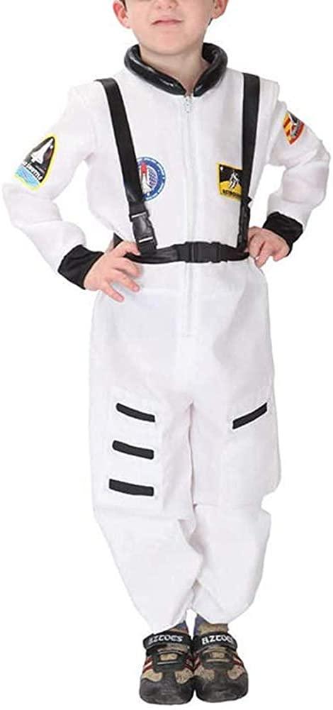 AGQT Kid's Halloween Astronaut Costume Set Long Sleeve Pilot Spacesuit Onesie Outfits Boys & Girls Party