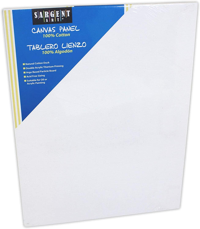 Sargent Art 90-3019 24x36-Inch 100-Percent-Cotton Canvas Panel,White