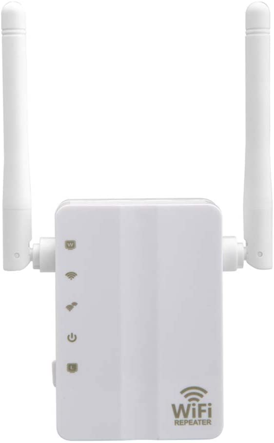 Leepesx 300Mbps Range Extender Wall-mounted WiFi Booster WiFi Internet Signal Amplifier Wireless Repeater for Router with Double Antenna Double Interface
