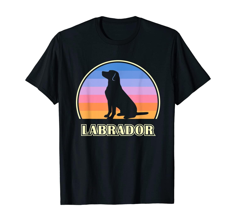 Labrador Vintage Sunset Dog T-Shirt