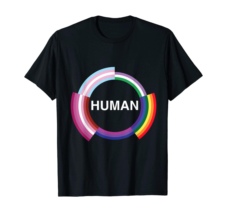 Human pride shirt for transgender gay pansexual and lesbian T-Shirt