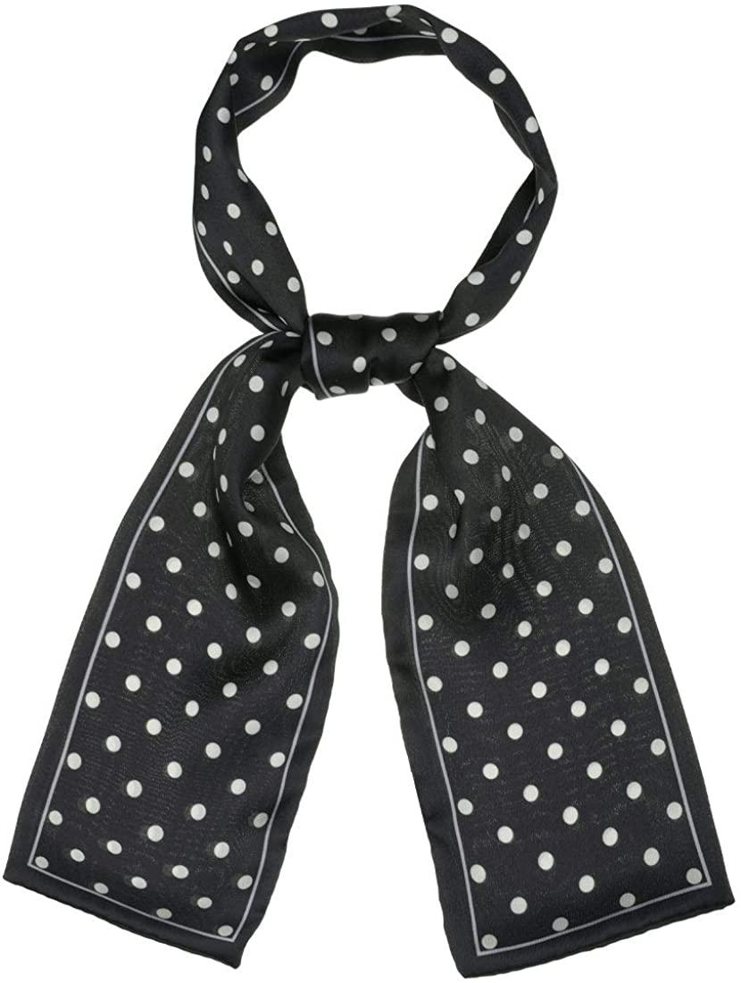 Allegra K 50s Ribbon Skinny Scarf Lovely Polka Dots Pattern for Bags Hair Band Neck Wraps