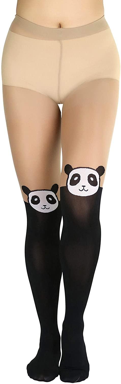 ToBeInStyle Women's Adorable Panda Opaque Pantyhose