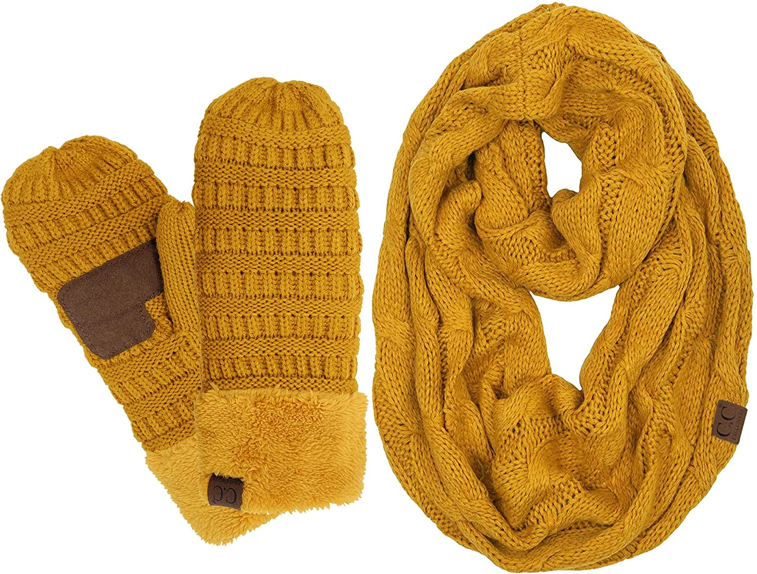 Funky Junque Exclusives Infinity Scarf Matching Lined Touchscreen Glove Bundle