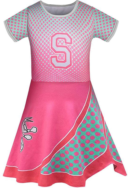Little Girls Cheerleader Dress Rose Addison Costume for Party Dress up