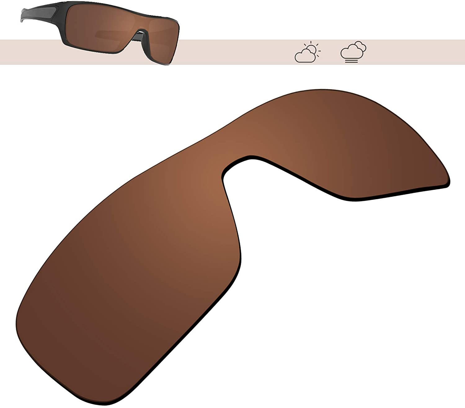 Glintbay 100% Precise-Fit Replacement Lenses for Oakley Turbine Rotor OO9307