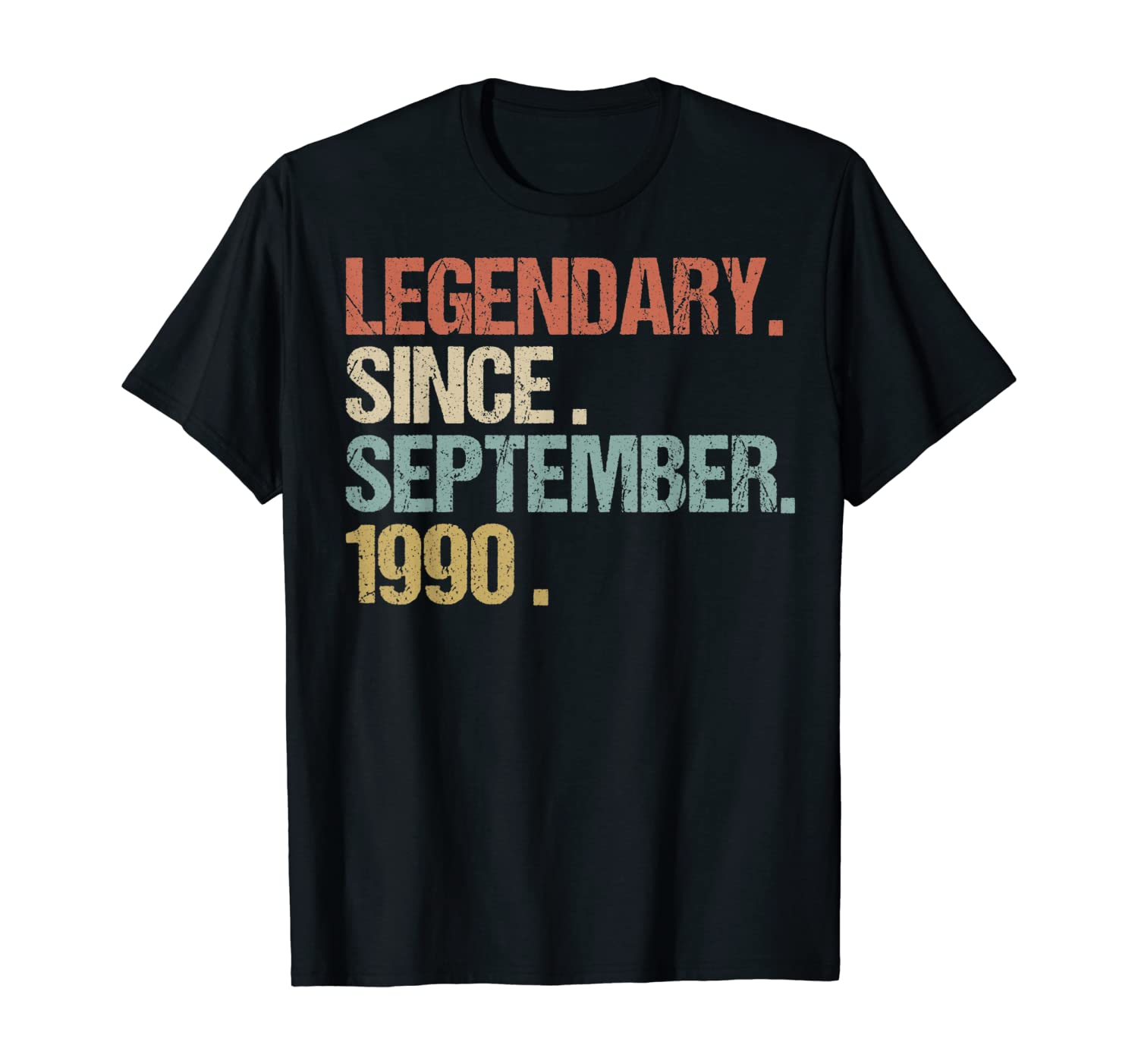 30th Birthday Legendary Since September 1990 Shirt Retro T-Shirt