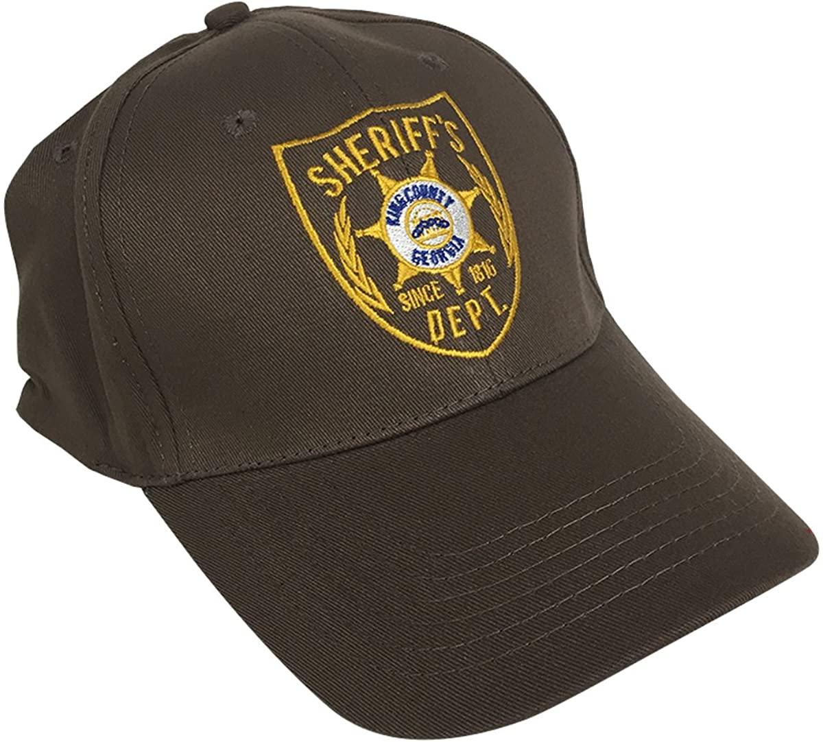 MyPartyShirt Sheriff's Dept. Hat Walking Dead Rick Grimes Costume Shane Walsh Baseball Cap Black