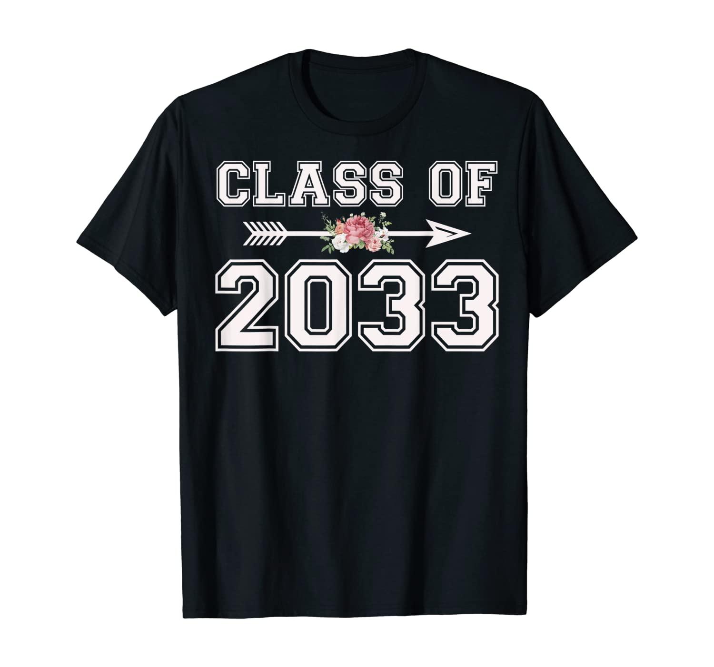 Class Of 2033 Shirt Kindergarten Grow With Me Graduation T-Shirt