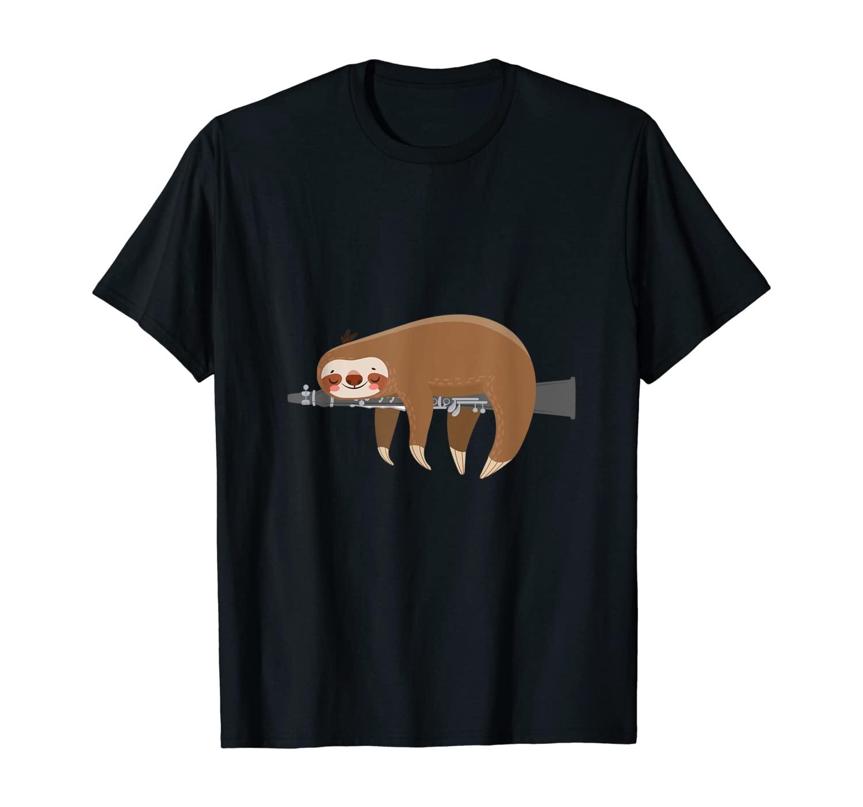 Musician Animals Lazy Animal Sleepy Clarinetist Clarinet T-Shirt