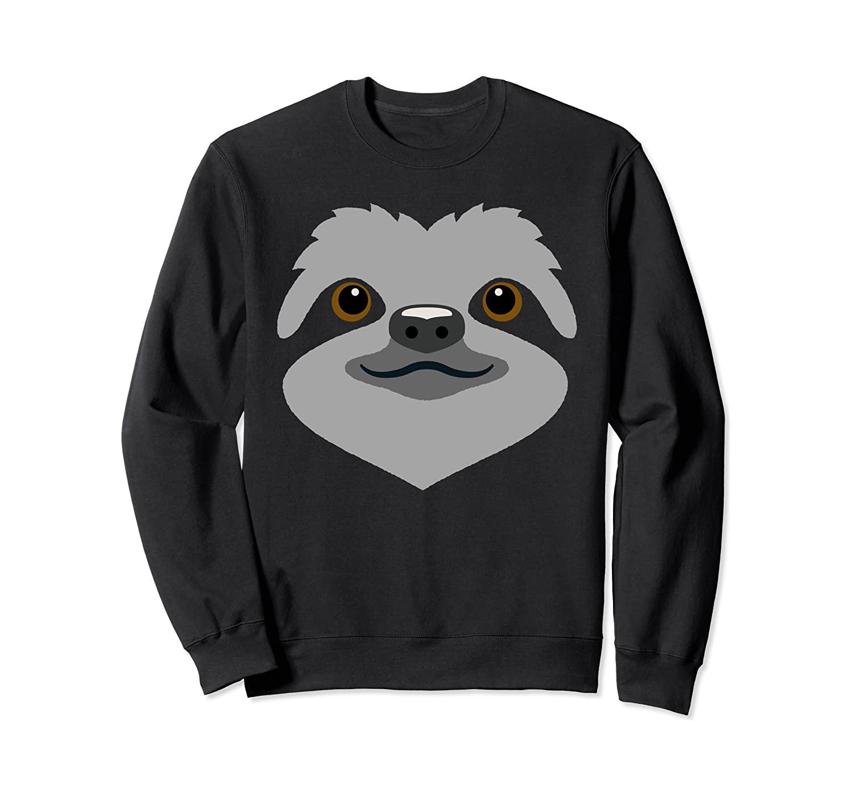 Sloth Sweatshirt Sloth Face Halloween Costume Shirt