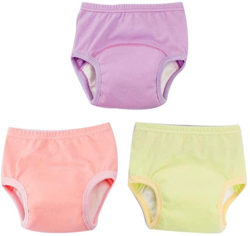 Milisten 3pcs Toddler Potty Training Pants 110cm Washable Cotton Underwear Baby Diaper Pants for Toddlers Infants