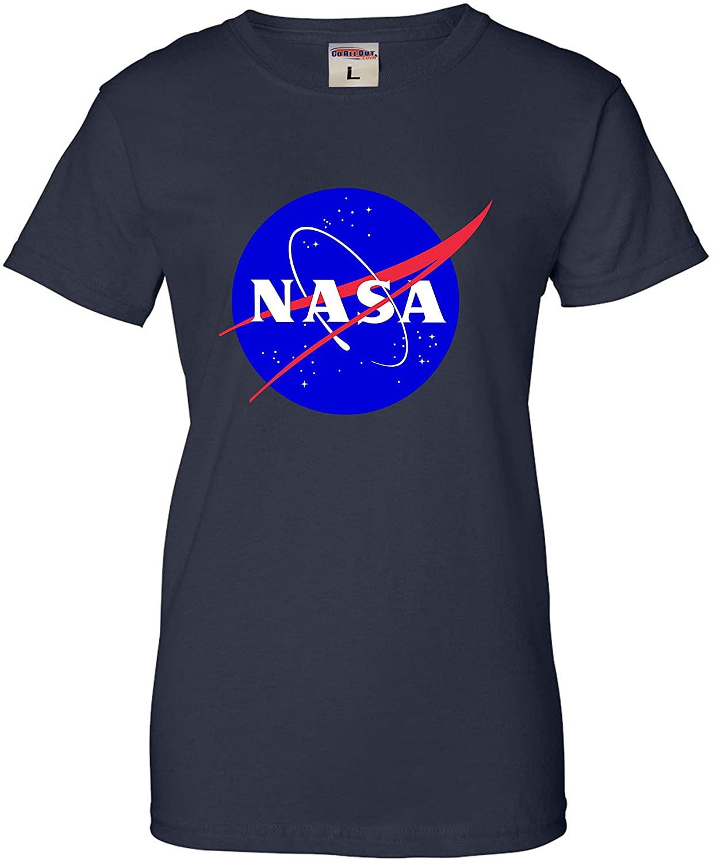 Go All Out Womens Blue NASA Logo T-Shirt