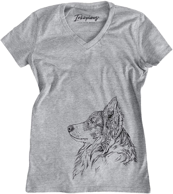 Inkopious Border Collie Profile Triblend T-Shirt