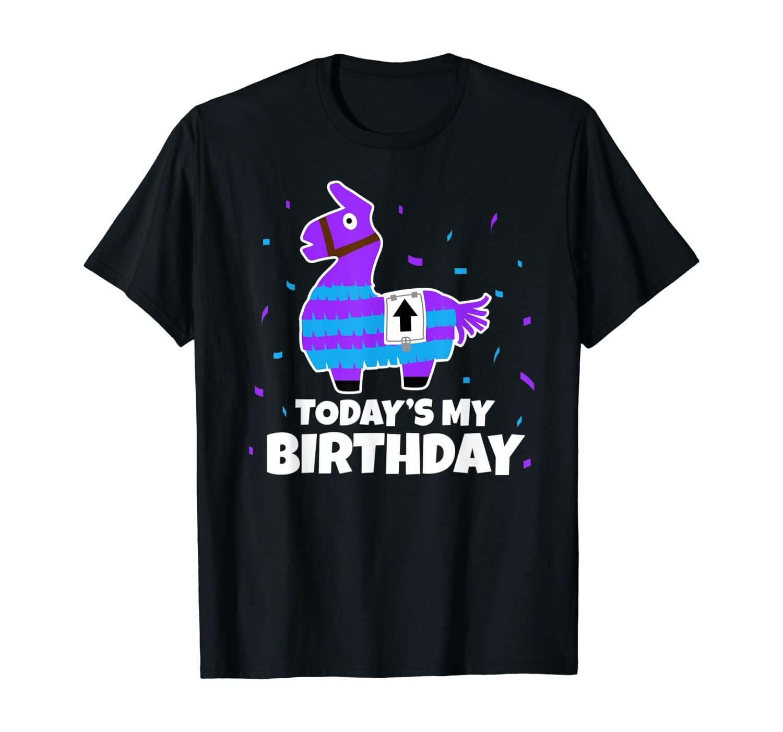 Todays my Birthday Cute Birthday Llama T-Shirt